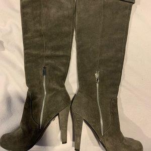 Michael Kors Grey Suede Knee High Boots